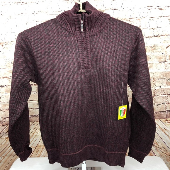 Men s Quarter Zip Pullover Sweater 59cdafba6